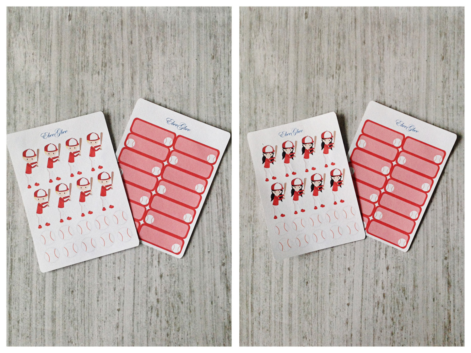 BASEBALL Planner Stickers