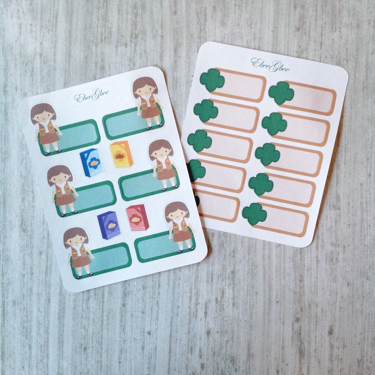 SCOUT GIRL BROWN  Planner Stickers