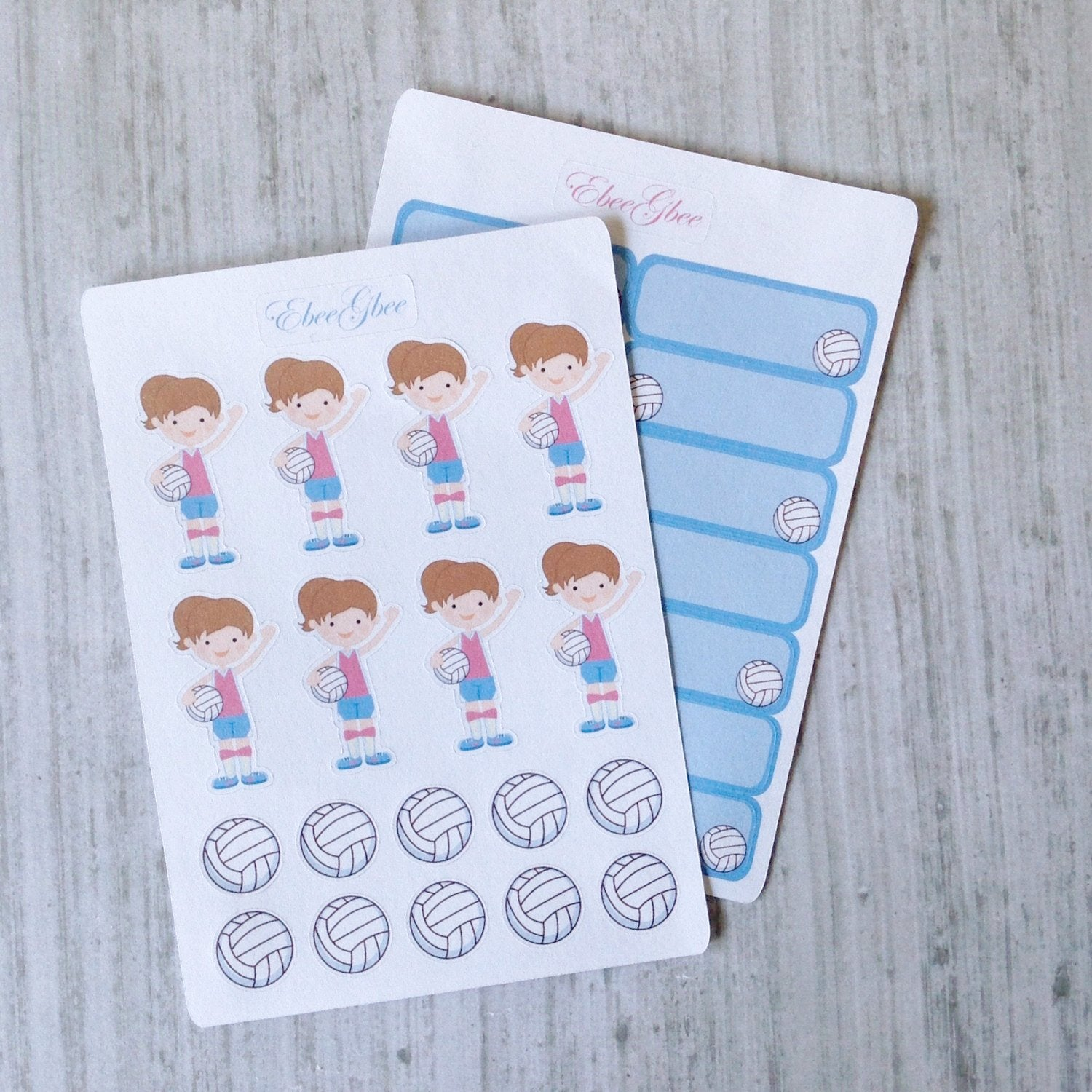VOLLEYBALL Planner Stickers
