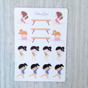 GYMNASTIC Planner Stickers