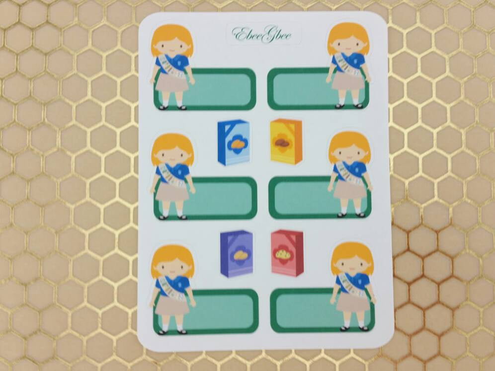 SCOUT GIRL TAN  Planner Stickers