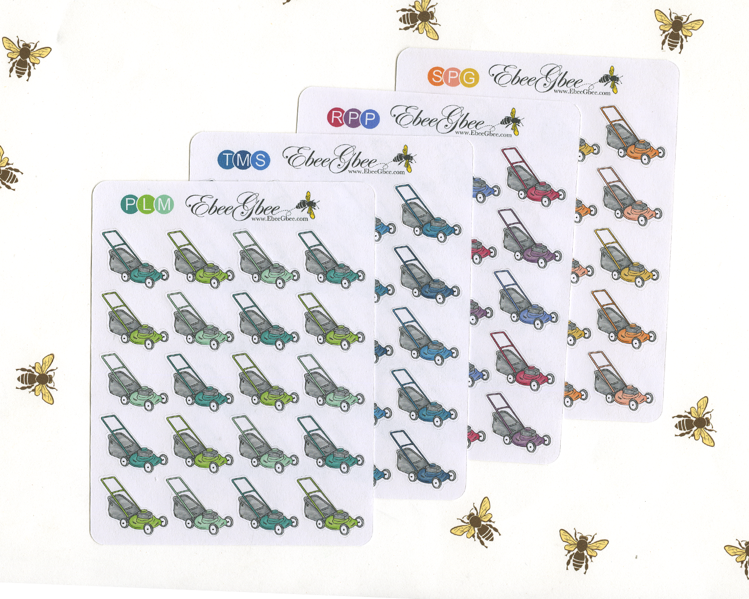 LAWNMOWER Planner Stickers
