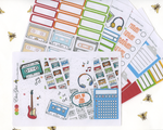 A LA CARTMIX TAPE Weekly Planner Sticker Sheets |  Lime Sunset Cherry