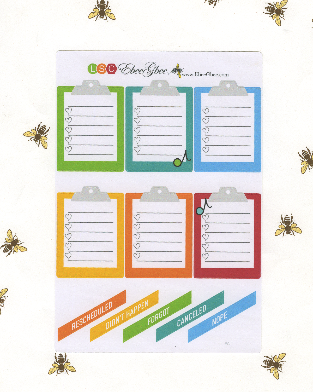 A LA CART MIXTAPE Weekly Planner Sticker Sheets |  Lime Sunset Cherry