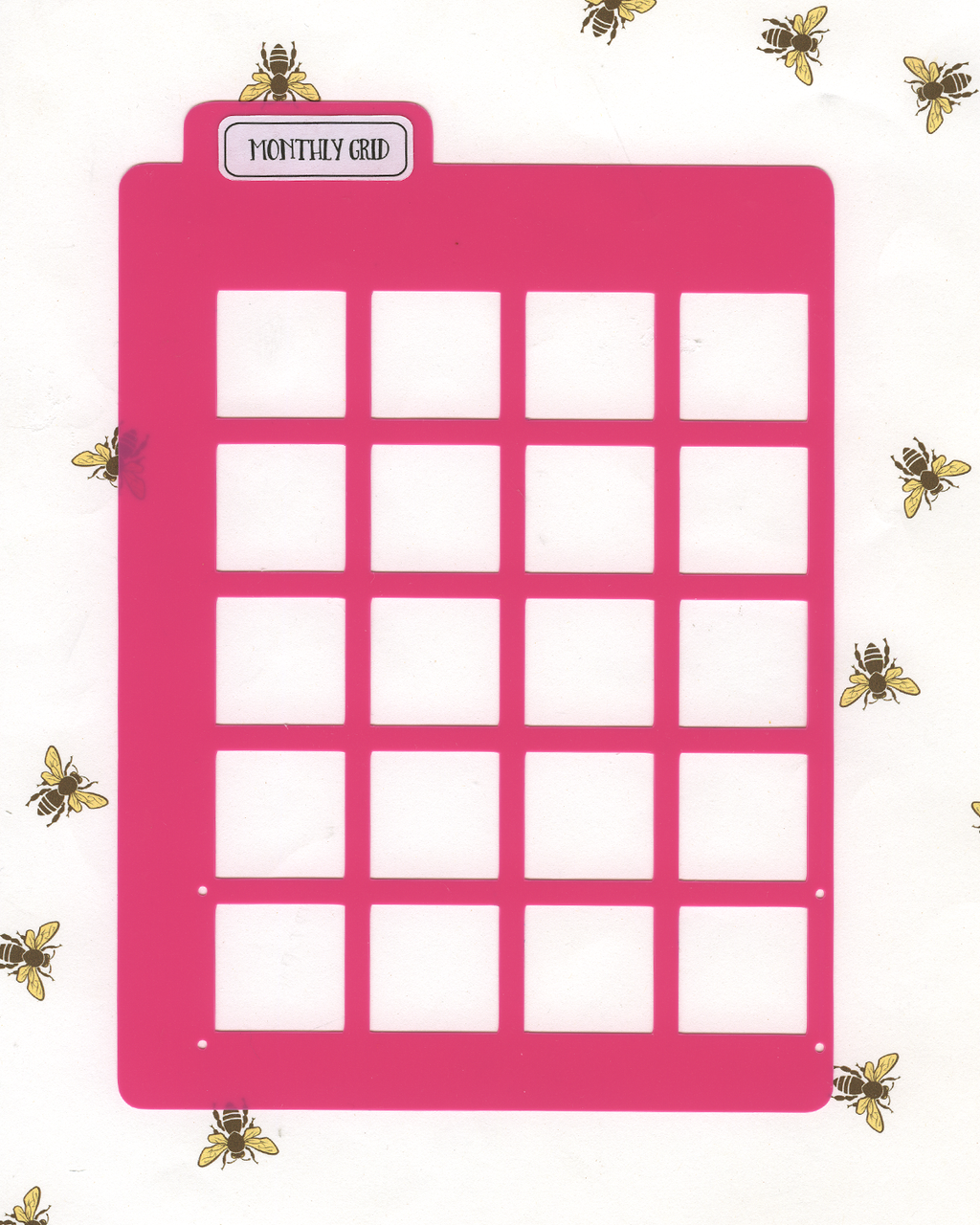 GRID MONTHLY LAYOUT STENCIL