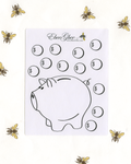 PIGGY BANK  Planner Stickers |  Hand Drawn