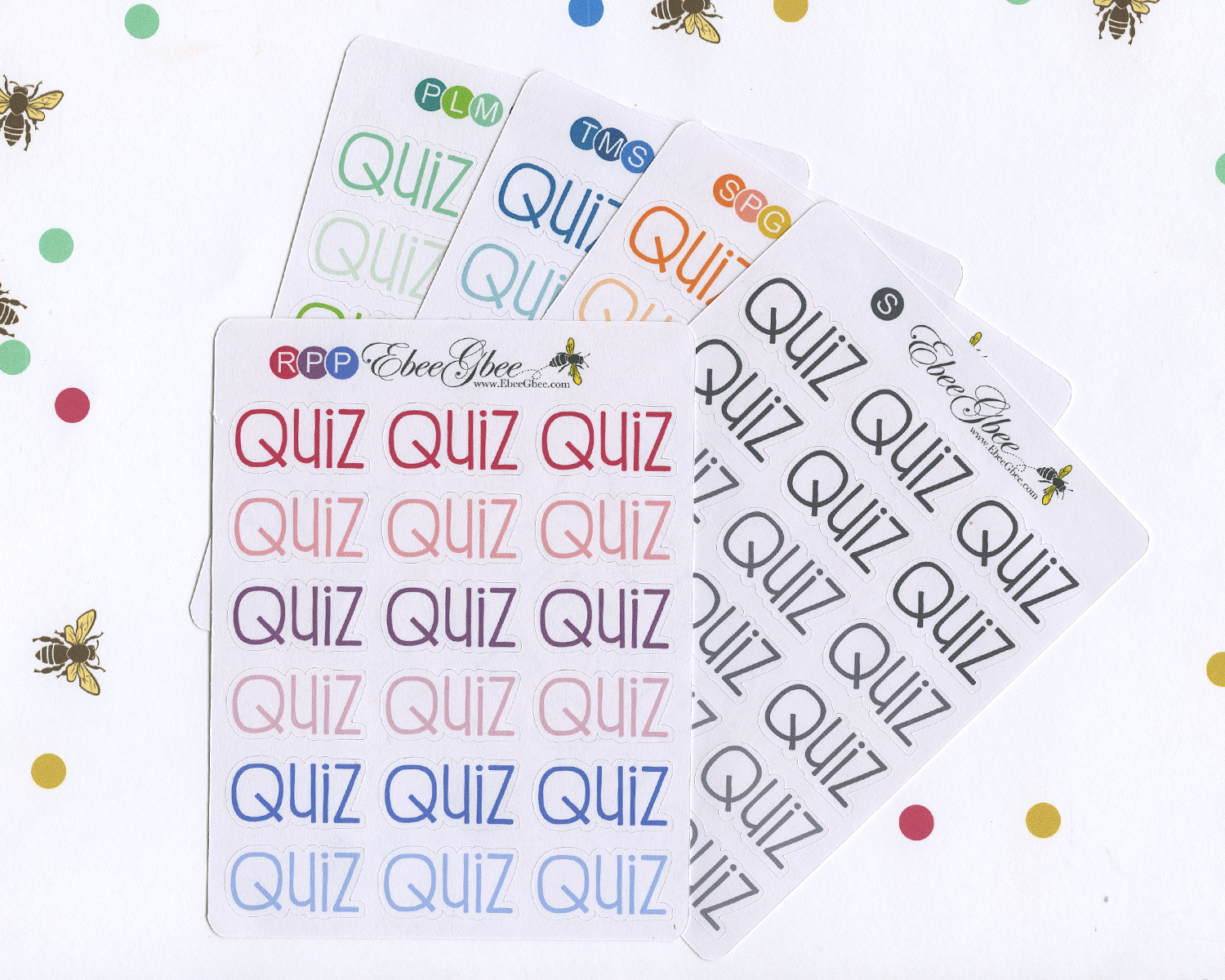 QUIZ Planner Stickers |  BeeColorful