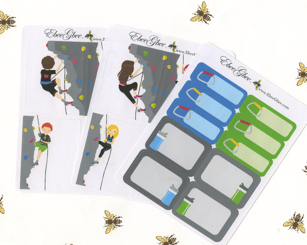 ROCK CLIMBING Sticker Set