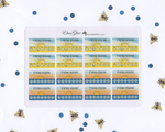 MORNING & EVENING ROUTINE TRACKERS Boxes Planner Stickers | Hand Drawn