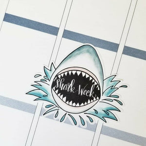 SHARK WEEK Planner Stickers