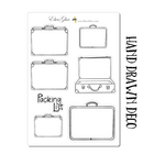 SUITCASES PACKING LIST Planner Stickers