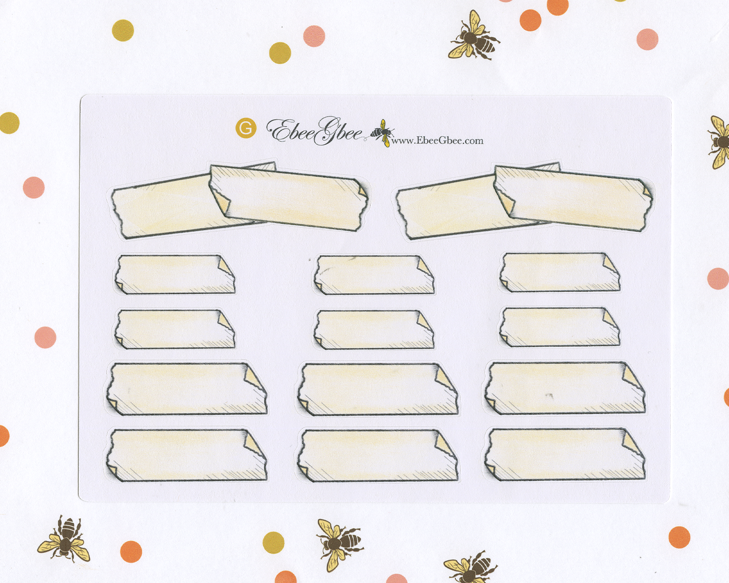 TAPE Stickers Planner Stickers | Hand Drawn Bullet Journal (BuJo) Style