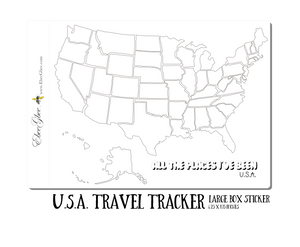 U.S.A. MAP TRAVEL TRACKER Planner Stickers