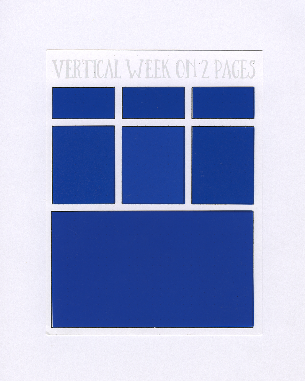 VERTICAL WEEK ON 2 PAGES Stencil Mask