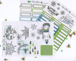 WARM WISHES WEEKLY Planner Sticker Set | LIME TEAL