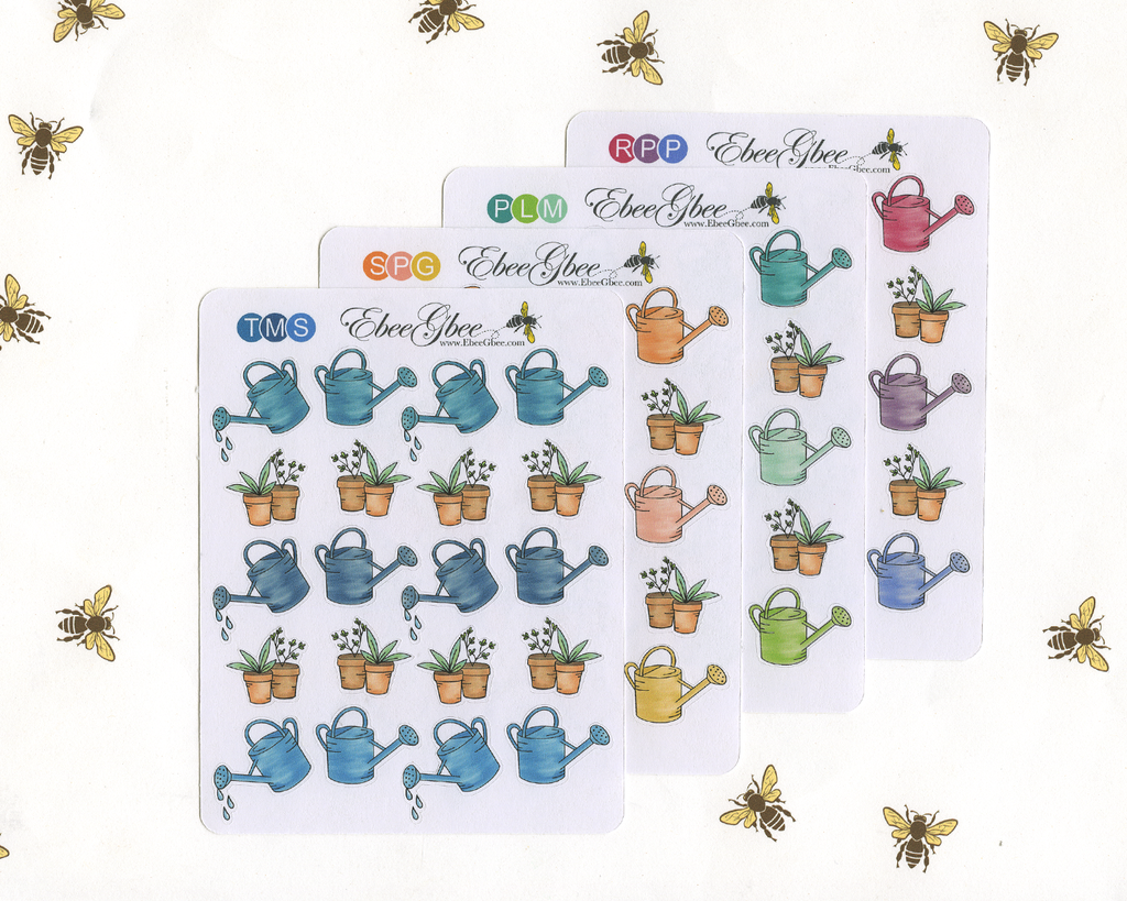 WATERING PLANTS Planner Stickers