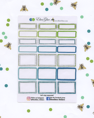 A LA CART WARM WISHES Weekly Planner Sticker Set | Lime Teal