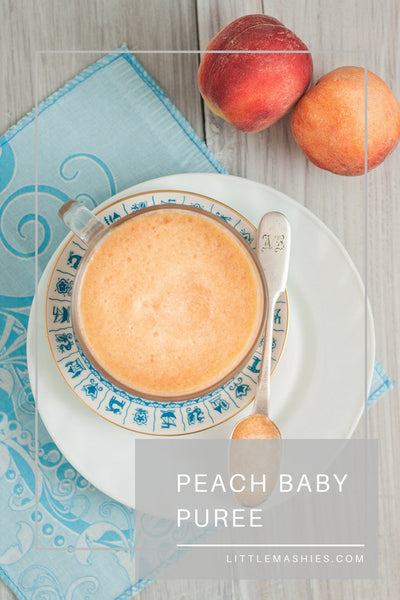 Peach Baby Puree - Little Mashies Reusable Pouches