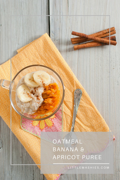 Apricot, Banana And Cinnamon Porridge - Little Mashies Reusable Pouches
