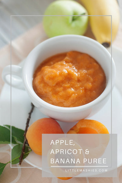 Apple, Apricot And Banana Baby Puree - Little Mashies Reusable Pouches