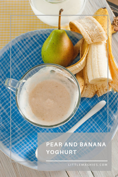Pear And Banana Yoghurt - Little Mashies Reusable Pouches
