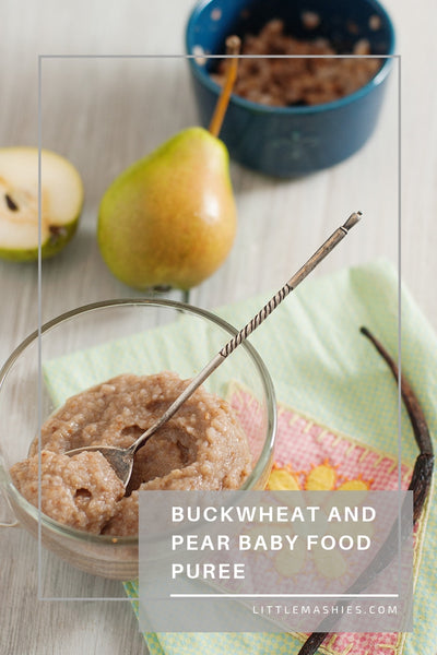Buckwheat And Pear Baby Food Puree - Little Mashies Reusable Pouches