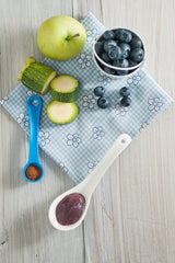 Zucchini Apple Blueberry And Cinnamon Baby Puree - Little Mashies Reusable Pouches