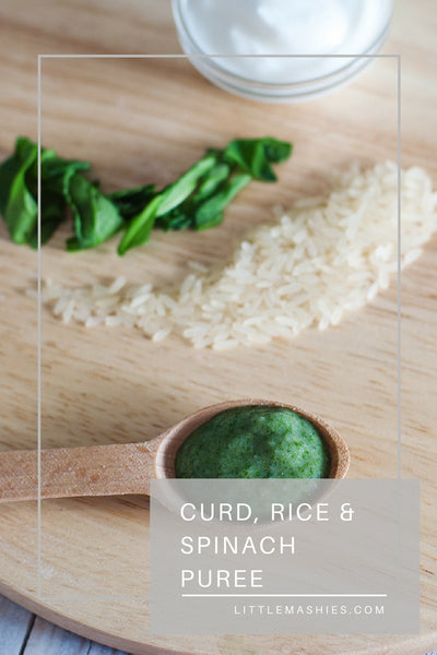 Spinach, Rice & Curd Puree - Little Mashies Reusable Pouches