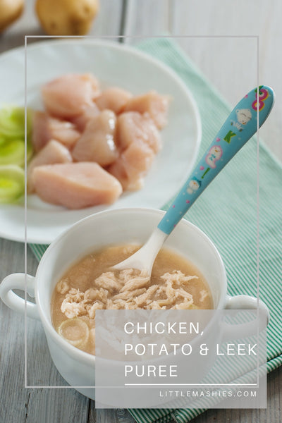 Chicken, Potato and Leek baby puree - Little Mashies Reusable Pouches