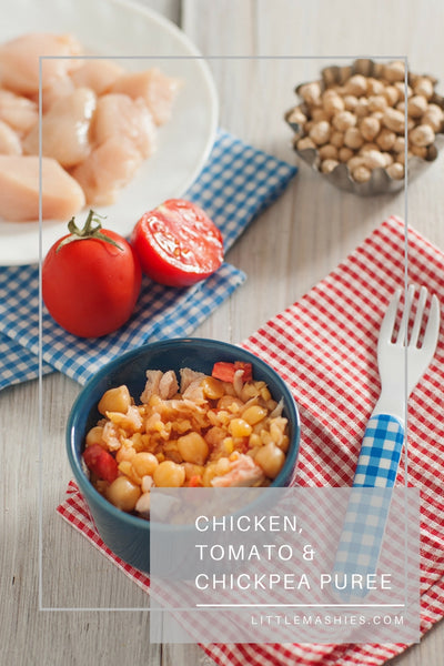 Chicken, Chickpea And Tomato Baby Puree - Little Mashies Reusable Pouches
