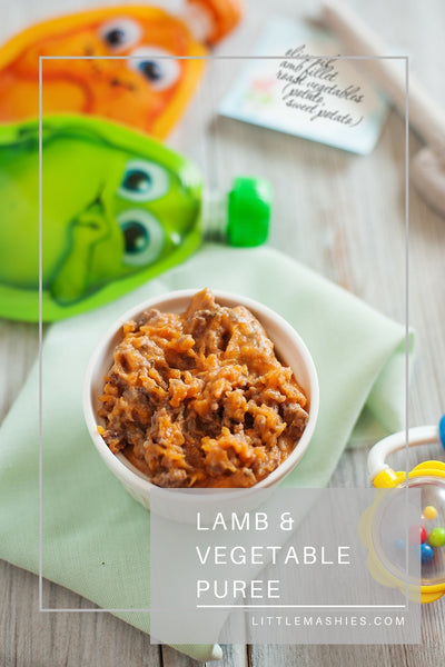 Lamb and Vegetable Puree - Little Mashies Reusable Pouches