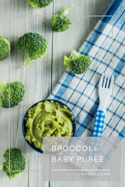Broccoli Baby Puree - Little Mashies Reusable Pouches