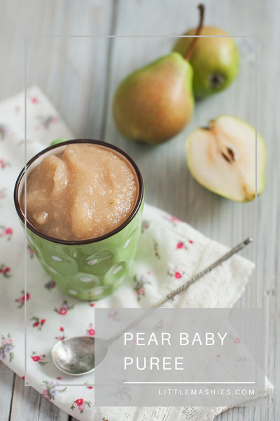 Pear Baby Puree - Little Mashies Reusable Pouches