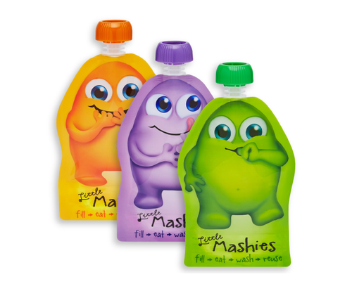 Little Mashies Reusable Food Pouches 6pk