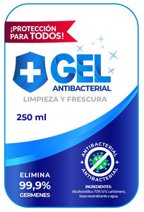 antibacterial gel/hand sanitizer 70%
