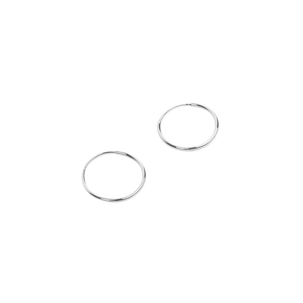 14K Endless Hoop Earring White Gold - Small