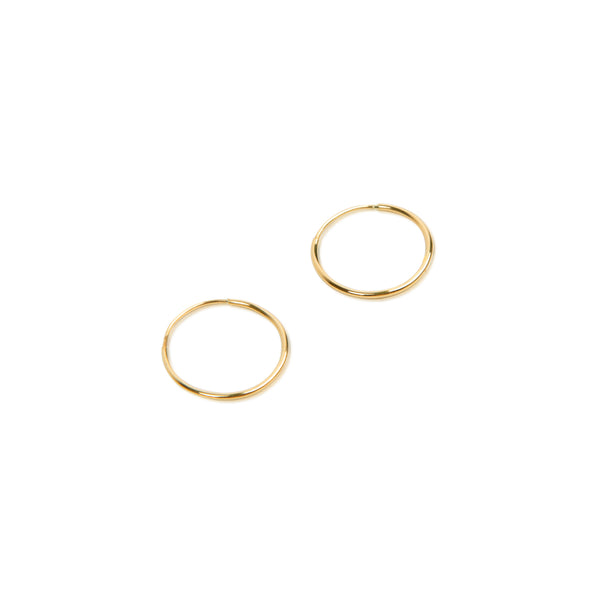14K Endless Hoop Earring Gold - Small