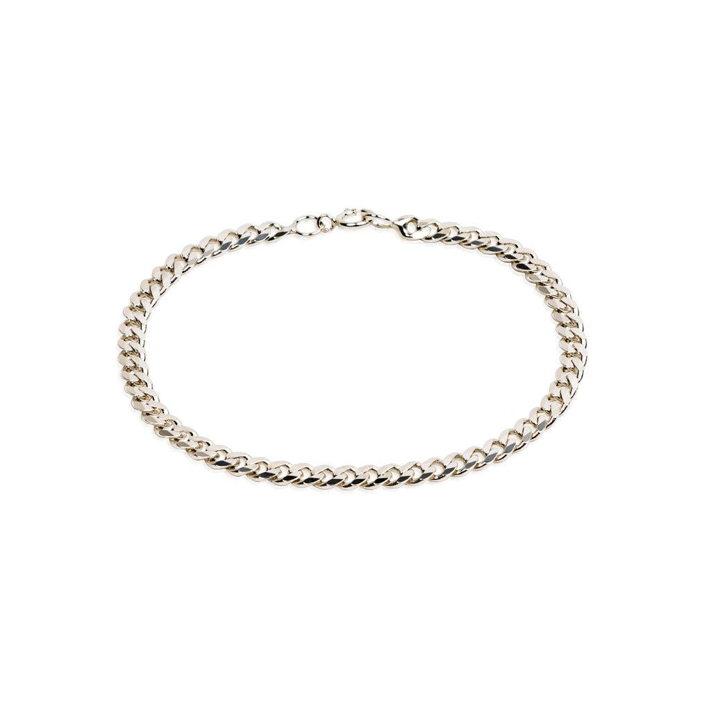 3.4mm CLASSIC FLAT CURB CHAIN BRACELET