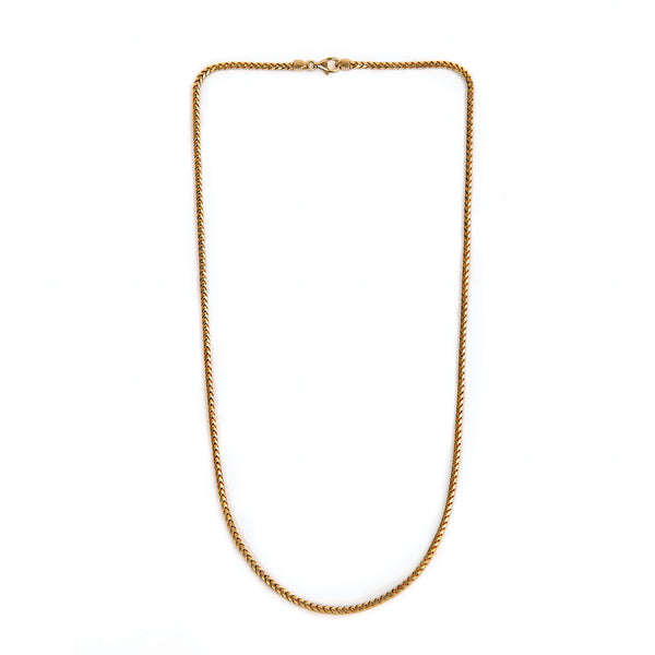 3mm Franco Chain Necklace Gold