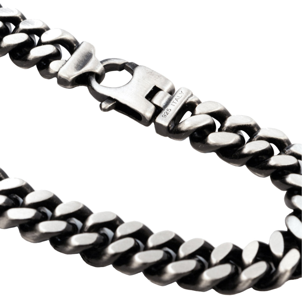 Diamond Cut Black Rhodium Bracelet 13.3mm