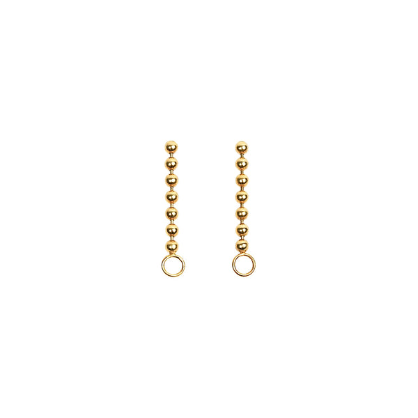 Beads Chain Earring w/ O-ring Hook Gold