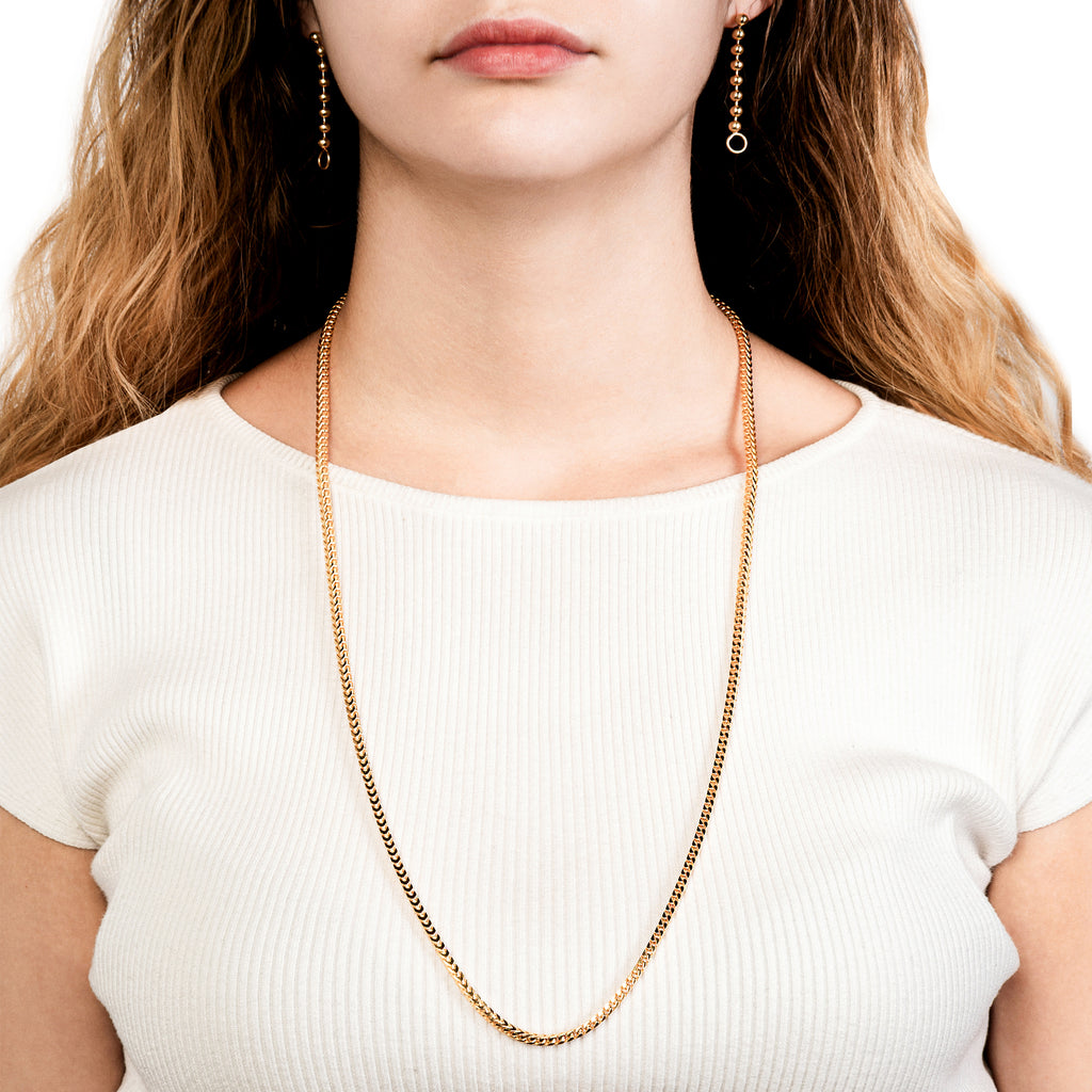 4.5mm Bold Franco Chain Necklace Gold