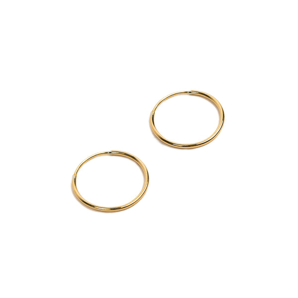 14K Endless Hoop Earring Gold - Big