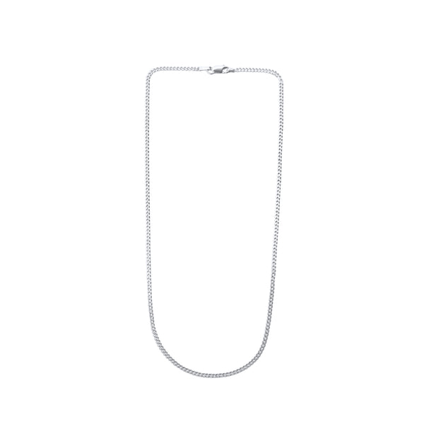 Classic Flat Curb Chain Necklace