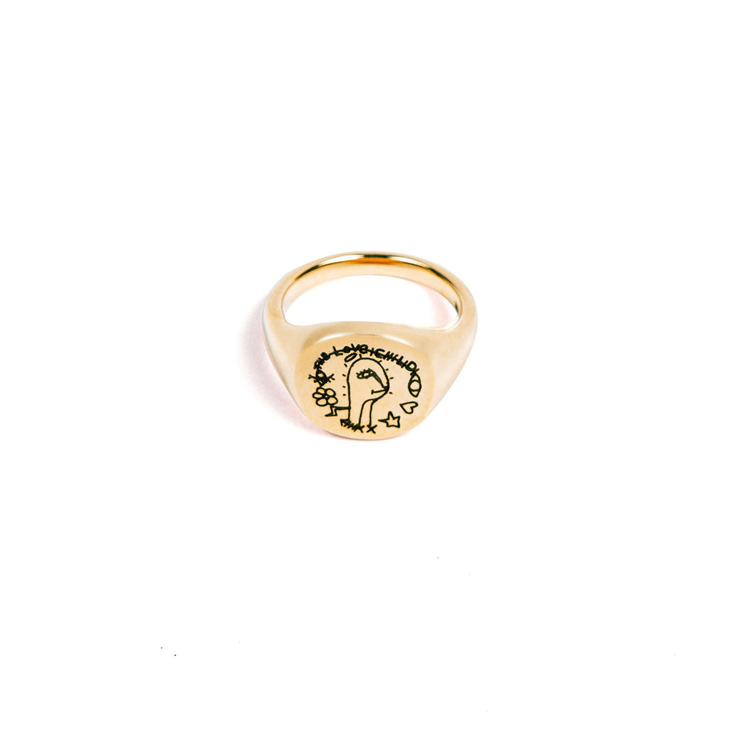 18K Gold Signet Ring C/O The Real Love Child