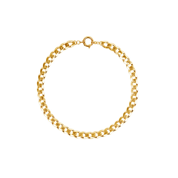 New Flat Curb Chain Necklace 10.3mm Vermeil