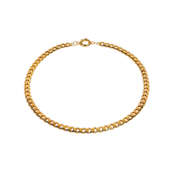8.1mm New Flat Chain Necklace Gold