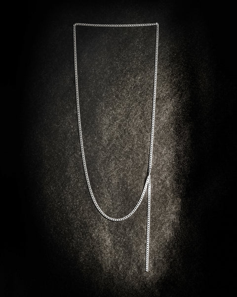 FLAT CHAIN LONG NECKLACE