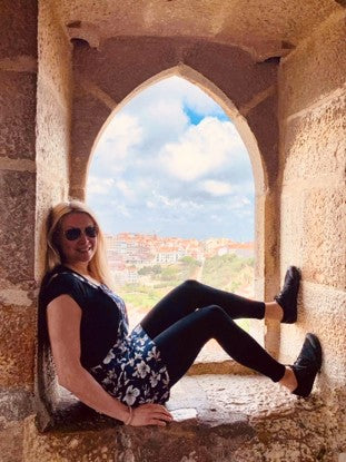 Ostepath Andrea Wheatley wearing Vivobarefoot Shoes while holidaying in Europe | Sole Mechanics Blog Post