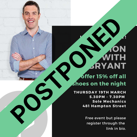 Postponed until further notice - Andy Bryant 'Let Talk Feet' event